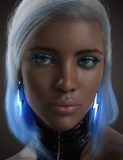 dforce High Voltage Hair for Genesis 3 and 8 Females