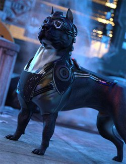 K92020 CyberPunk Armor and Custom Breed for Dog 8