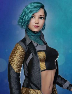 dForce Beautyworks Cyberpunk Outfit 01 For Genesis 8 Females