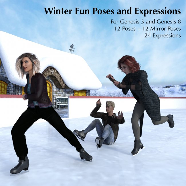 Winter Fun Poses & Expressions for G3/G8