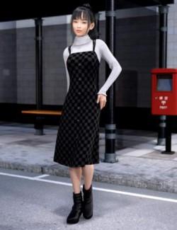 dForce Pinafore Dress for Genesis 8 Females