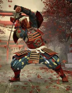 Shogun Samurai Poses for Genesis 8 Male