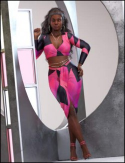On Fleek Outfit with dForce for Genesis 8 Females