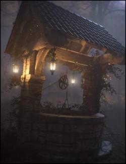 Old Village Wishing Well Iray