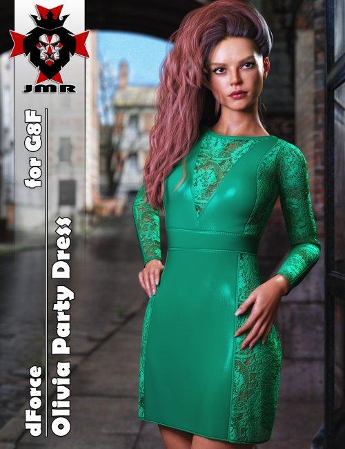JMR dForce Olivia Party Dress for G8F