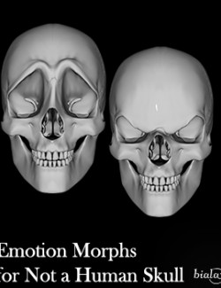 Emotion Morphs for Not a Human Skull