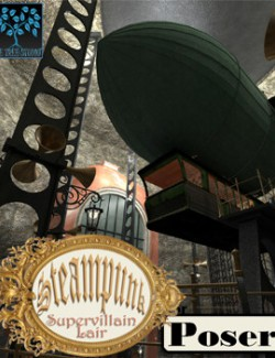Steampunk Supervillain Lair for Poser