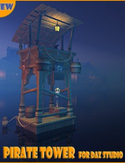 Pirate tower for Daz Studio