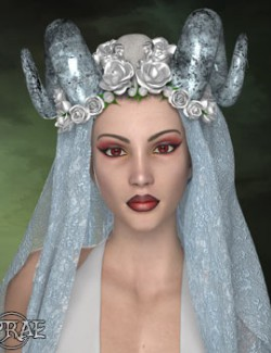 Prae-Demon Bride Headdress for La Femme Poser