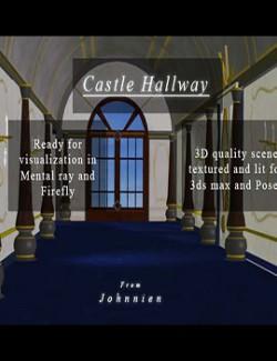 Castle Hallway for Poser
