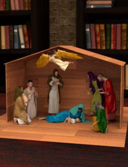 Mix-n-Match Nativity Poses for Genesis 8