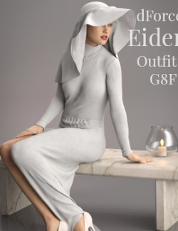 dForce- Eider Outfit for Genesis 8 Female