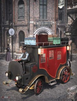 MD Steam Red and Black Carriage