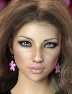 Flower Earrings for Genesis 8 Females
