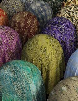 Golden Printed Fabric Iray Shaders