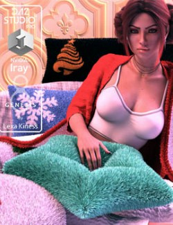 Cuddly Pillows and dForce Blanket - Props and Poses for Genesis 8