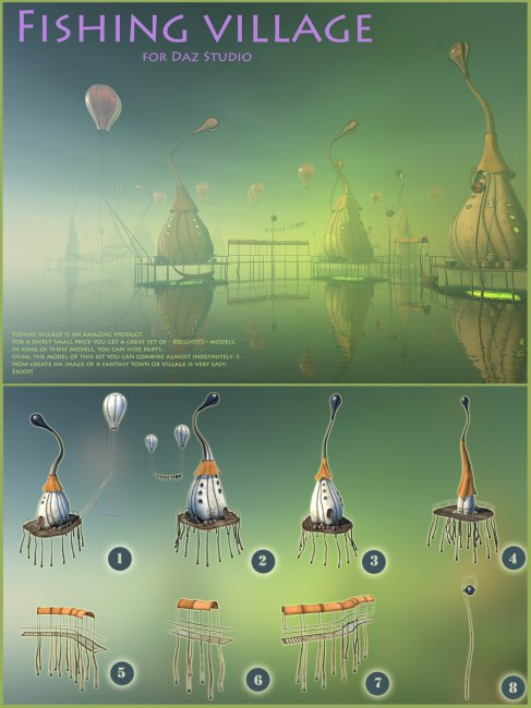 Fishing village for Daz Studio