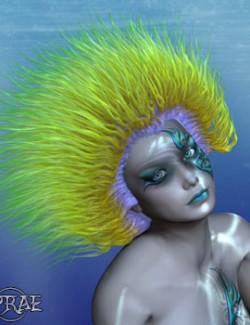 Prae-Anemone Hair For V4 La Femme Poser