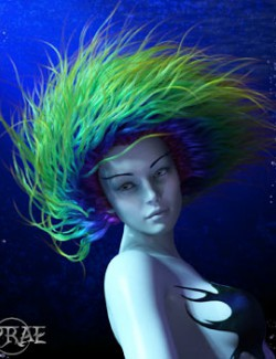 Prae-Anemone Hair For G8 Daz
