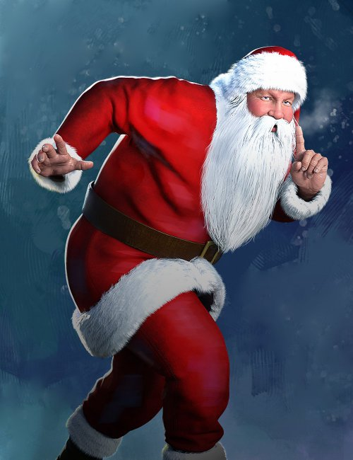 Santa Laughing Animation for Genesis 8 Males