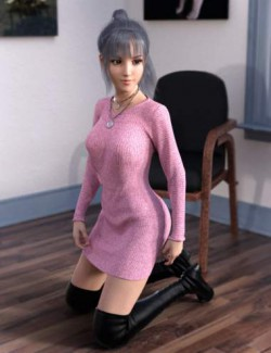 dForce Knit One Piece Outfit for Genesis 8 Females