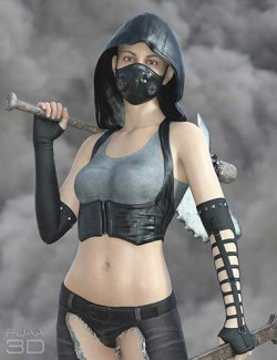 dForce Post Apocalyptic Outfit for Genesis 8 Females