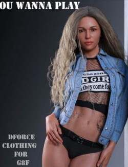 dforce You Wanna Play clothing for G8F