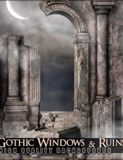 Gothic Windows and Ruins Backgrounds