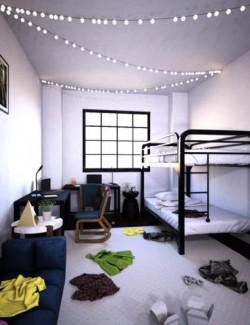 Messy Dorm