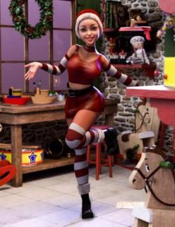 Santa's Helper Outfit for Genesis 8 Females