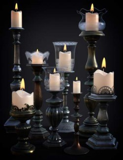 B.E.T.T.Y. Vintage Decor 01 Candlesticks