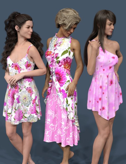 dForce Dress Collection for Genesis 8 Females