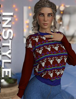 InStyle - dForce Crew Sweater for Genesis 8 Females