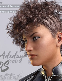 Adedayo Hair DS for Genesis8