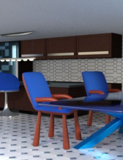 Kitchen and Diningroom for Dollhouse 1