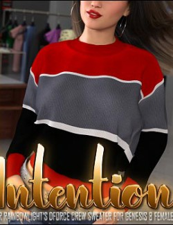 Intention for dForce Crew Sweater for Genesis 8 Female(s)