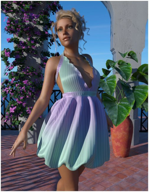 dForce - Puffball Dress for G8F