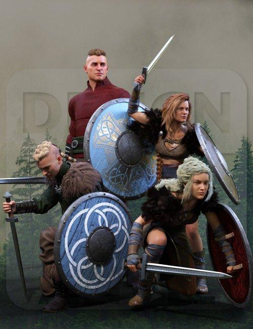 DA Sword and Shield Poses for Genesis 8