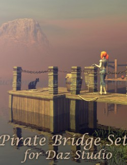Pirate Bridge Set for Daz Studio