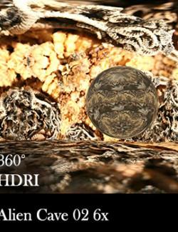 Alien Cave 02 360 Environment - HDRI