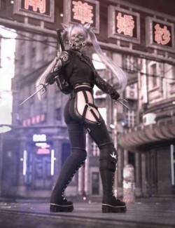 Katana HD Outfit for Genesis 8 Females