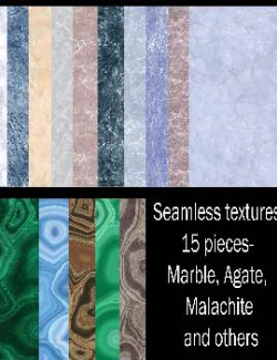 Seamless textures of marble, malachite, agate and others