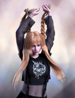 FE Long Hair Vol 01 for Genesis 8 Female