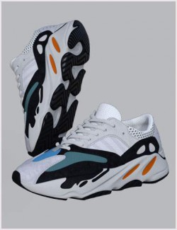 Cute3D's Trail Running Shoes 7 for Genesis 8