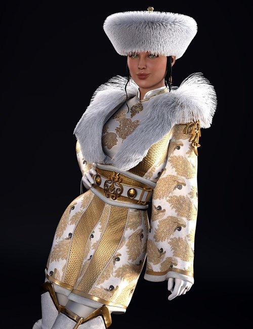 dForce Sujin Imperial Fantasy Outfit for Genesis 8 Females