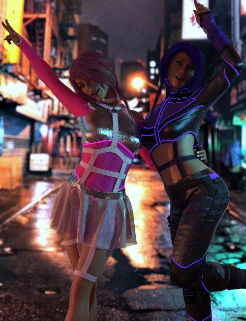 dForce CyberGirl Outfits for Genesis 8 Females