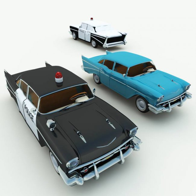 1950s Bel Air Police Car and Stock Car for Poser