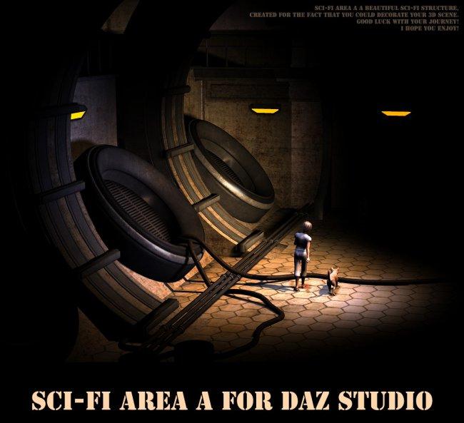 Sci-fi area A for Daz Studio