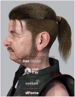 dForce Warrior Hair for Genesis 8 Males