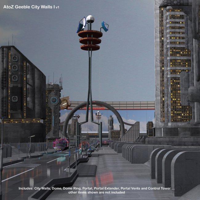 AtoZ Geeble City Walls I v1